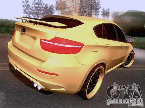 BMW X6M Hamann для GTA San Andreas вид изнутри