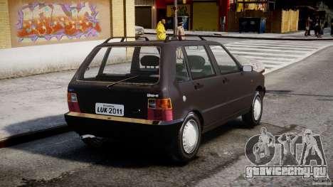 Fiat Uno 70SX 1989-1993 для GTA 4