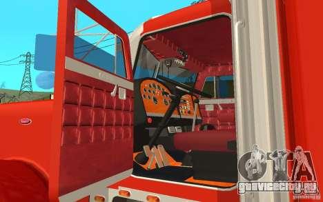 Peterbilt 379 Custom Coca Cola для GTA San Andreas вид сзади