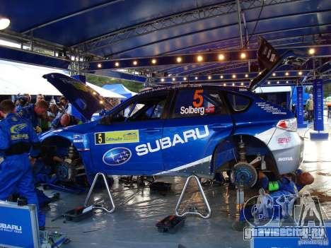 Новый винил к Subaru Impreza WRX STi для GTA San Andreas вид сзади
