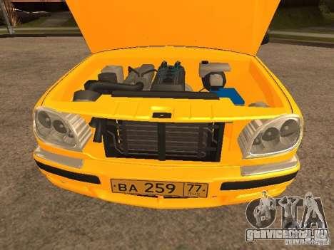 ГАЗ-31105 Волга Такси для GTA San Andreas вид сбоку