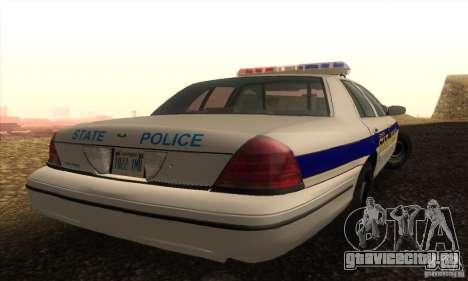 Ford Crown Victoria Police для GTA San Andreas вид слева