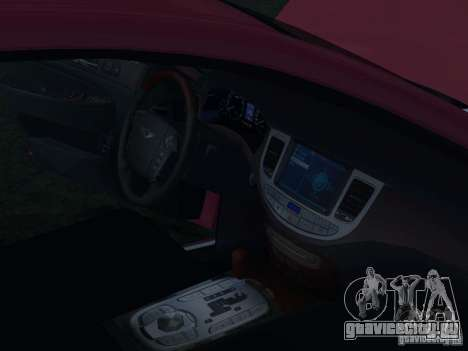 Hyundai Genesis для GTA San Andreas салон