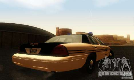 Ford Crown Victoria Tennessee Police для GTA San Andreas вид слева