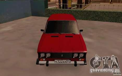 ВАЗ 2106 Сток для GTA San Andreas вид изнутри