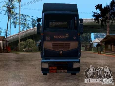 Renault Premium для GTA San Andreas вид сзади