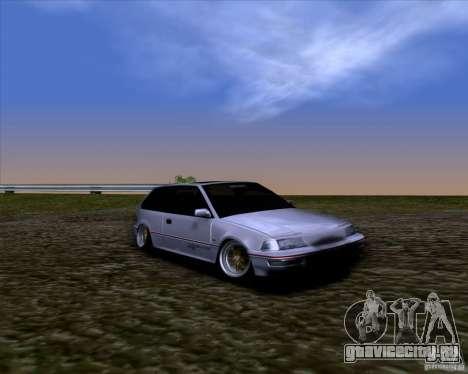 Honda Civic EF9 Hatch Stock для GTA San Andreas вид справа