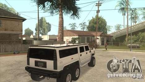 Hummer H6 для GTA San Andreas вид справа