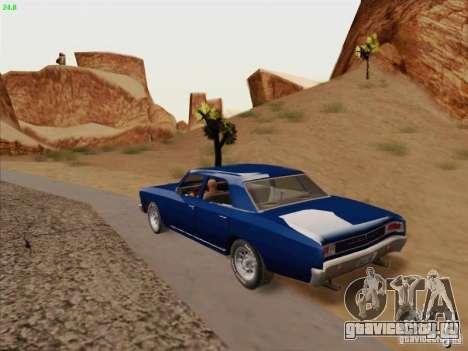 Chevrolet Chevelle для GTA San Andreas вид изнутри
