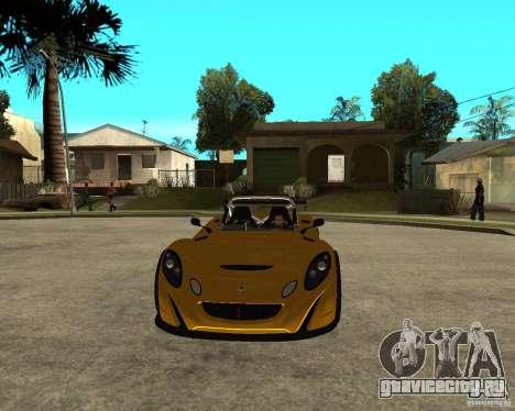 Lotus 2-Eleven для GTA San Andreas вид сзади