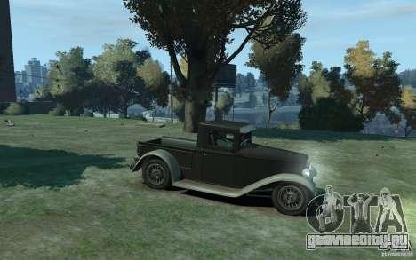 Ford Pickup 1930 для GTA 4 вид сзади