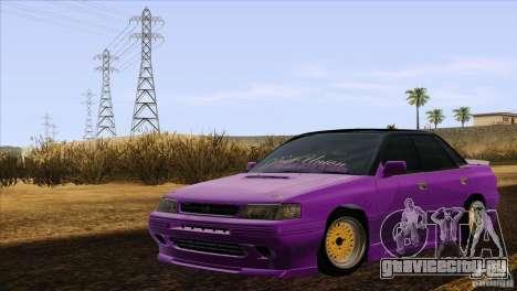 Subaru Legacy Drift Union для GTA San Andreas вид сзади слева