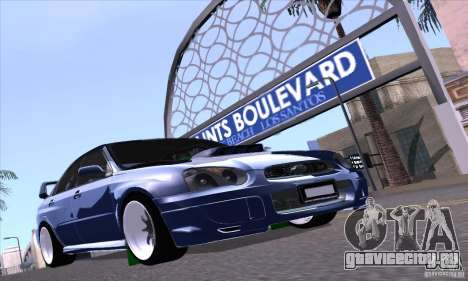 Subaru Impresa WRX light tuning для GTA San Andreas вид сзади