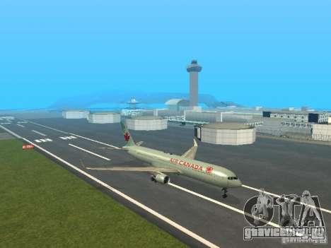 Boeing 767-300 Air Canada для GTA San Andreas вид слева