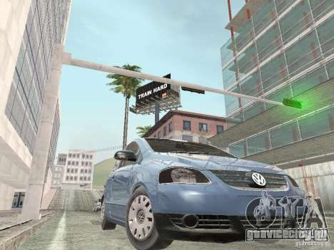 Volkswagen Fox 2011 для GTA San Andreas вид сзади слева