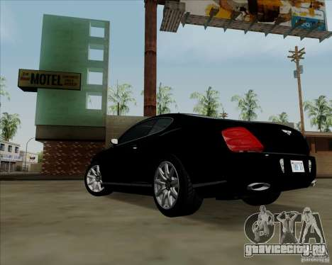 Bentley Continental GT V1.0 для GTA San Andreas салон