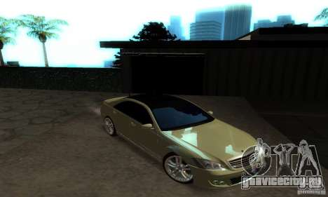 Mercedes-Benz S500 W221 Brabus для GTA San Andreas вид изнутри