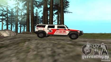 HUMMER H2 Amulance для GTA San Andreas вид слева