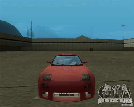 Mazda RX-7 weapon war для GTA San Andreas вид сзади слева
