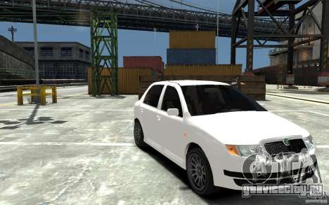 Skoda Fabia для GTA 4 вид сзади