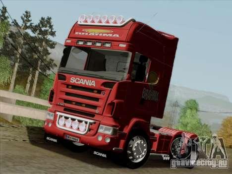 Scania R620 Brahma для GTA San Andreas вид изнутри