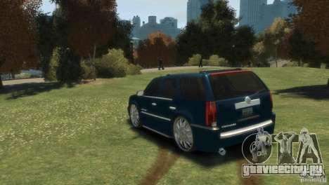 Cadillac Escalade Dub для GTA 4 вид сзади слева