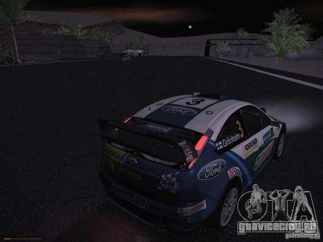 Ford Focus RS WRC 2006 для GTA San Andreas салон