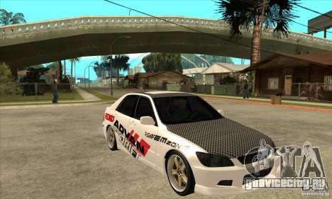 Lexus IS300 Tunable для GTA San Andreas вид сзади