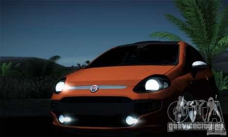 Fiat Punto Evo 2010 Edit для GTA San Andreas вид снизу