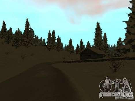 Зимняя трасса для GTA San Andreas четвёртый скриншот