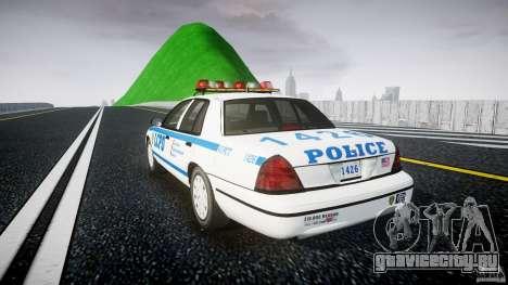 Ford Crown Victoria Police Department 2008 LCPD для GTA 4 вид сзади слева