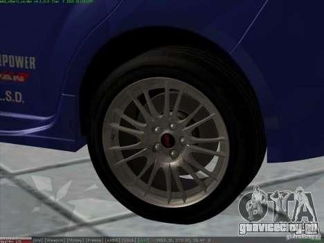 Subaru Impreza для GTA San Andreas вид сверху