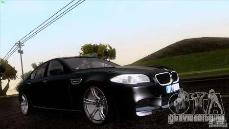 BMW M5 2012 для GTA San Andreas вид сбоку
