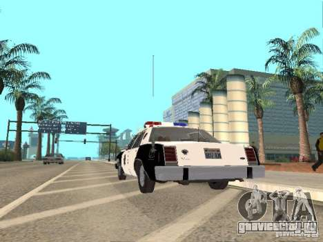 Ford LTD Crown Victoria Interceptor LAPD 1985 для GTA San Andreas вид справа