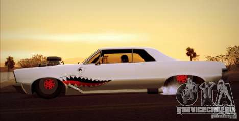 Pontiac GTO Drag Shark для GTA San Andreas вид сзади слева