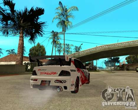 Lancer Evolution VIII япошка для GTA San Andreas вид сзади слева