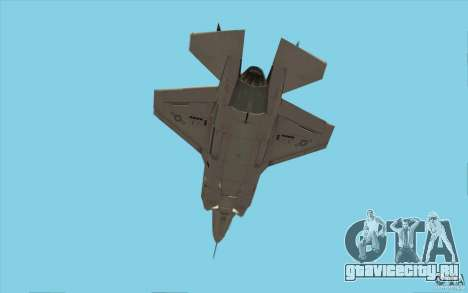 Lockheed F-35 Lightning II для GTA San Andreas вид изнутри