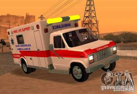Ford Econoline Ambulance для GTA San Andreas вид сзади слева