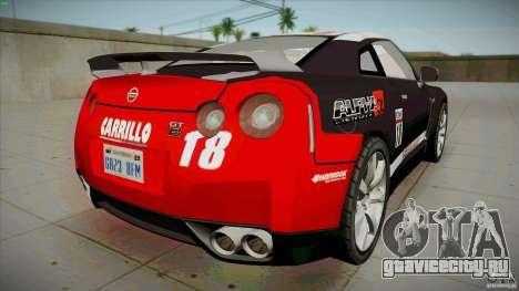 Nissan GT-R  AMS Alpha 12 для GTA San Andreas вид сзади слева