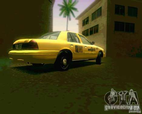 Ford Crown Victoria 2003 NYC TAXI для GTA San Andreas вид справа