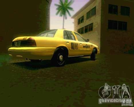 Ford Crown Victoria 2003 NYC TAXI для GTA San Andreas вид справа