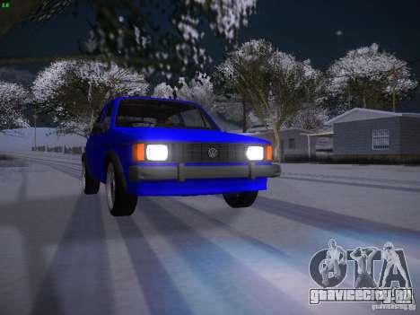 Volkswagen Rabbit GTI для GTA San Andreas вид сверху