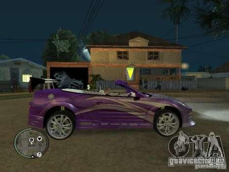 Mitsubishi Spyder 2Fast2Furious Cabriolet для GTA San Andreas вид слева