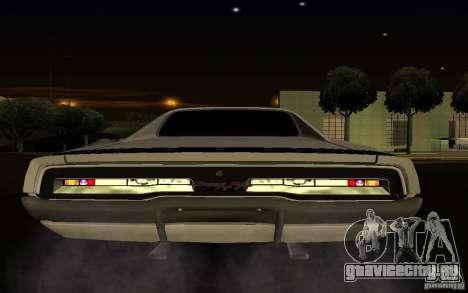 Dodge Charger R/T для GTA San Andreas вид изнутри
