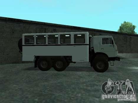 КамАЗ 4310 Вахта для GTA San Andreas вид слева