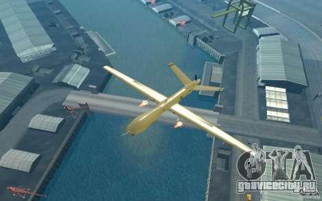 RQ9 Predator для GTA San Andreas вид справа