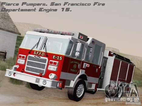 Pierce Pumpers. San Francisco Fire Departament для GTA San Andreas