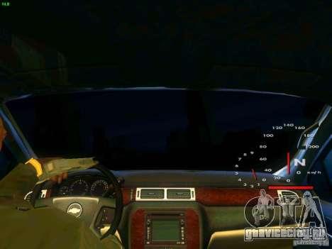 Chevrolet Silverado Final для GTA San Andreas вид изнутри