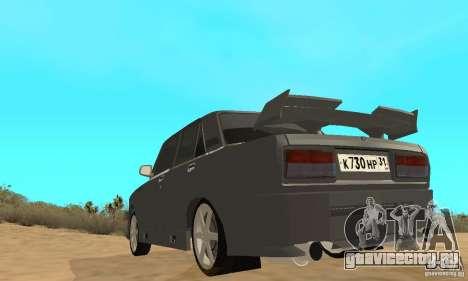 ВАЗ 2105 Night Hunter для GTA San Andreas вид сзади