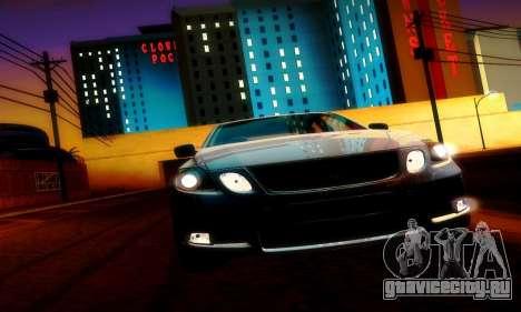 Lexus GS430 для GTA San Andreas вид изнутри